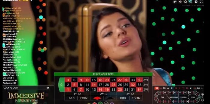 Immersive Roulette live casinospill